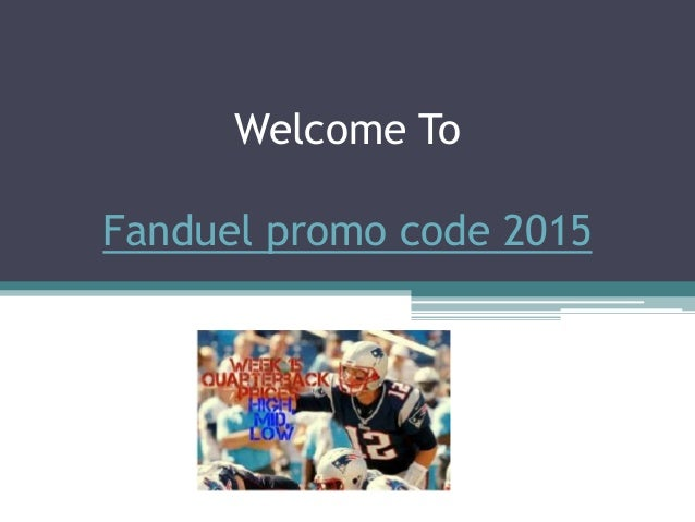 Welcome To Fanduel promo code 2015