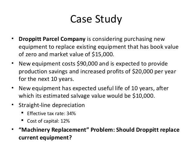 capital budgeting case study ppt