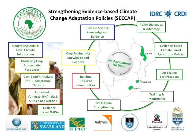 Strengthening Evidence-­based Climate Change Adaptation Policies (SECCAP)
