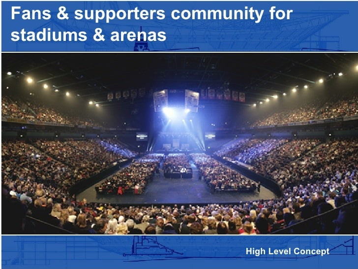 High Level Concept Fans & supporters community for stadiums & arenas