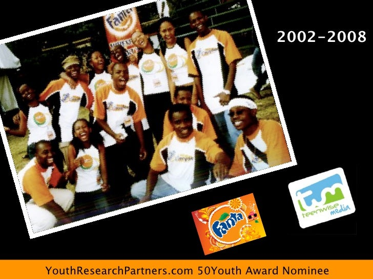 2002-2008     YouthResearchPartners.com 50Youth Award Nominee