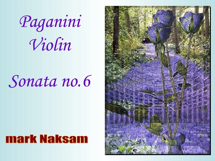 Paganini Violin Sonata no.6 mark Naksam