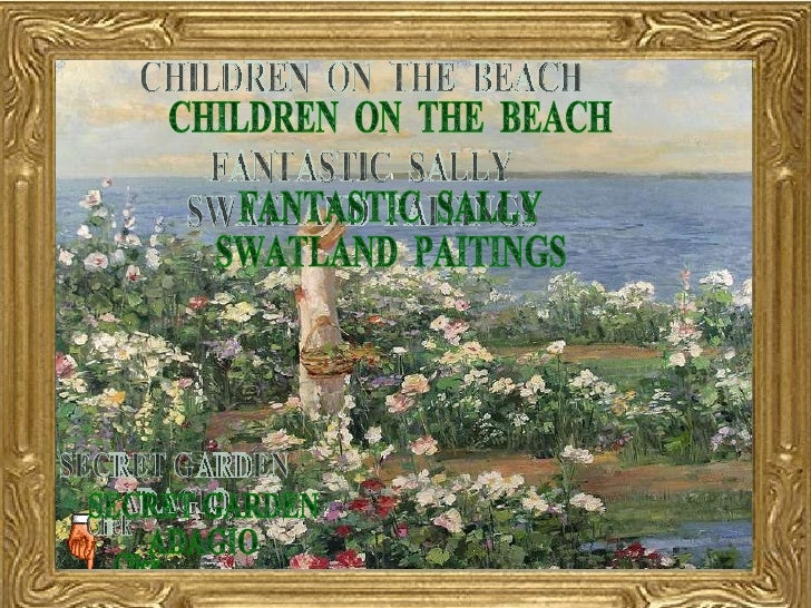 Fantastic Sally Swatland Paintings Children On The Beach