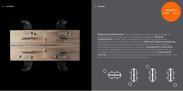 Razionale accostamento. I tavoli accostabili sono dotati di sistema di aggancio rapido e di binario in alluminio per una c...