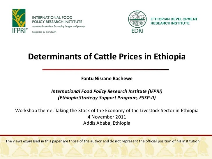 Determinants of Cattle Prices in Ethiopia