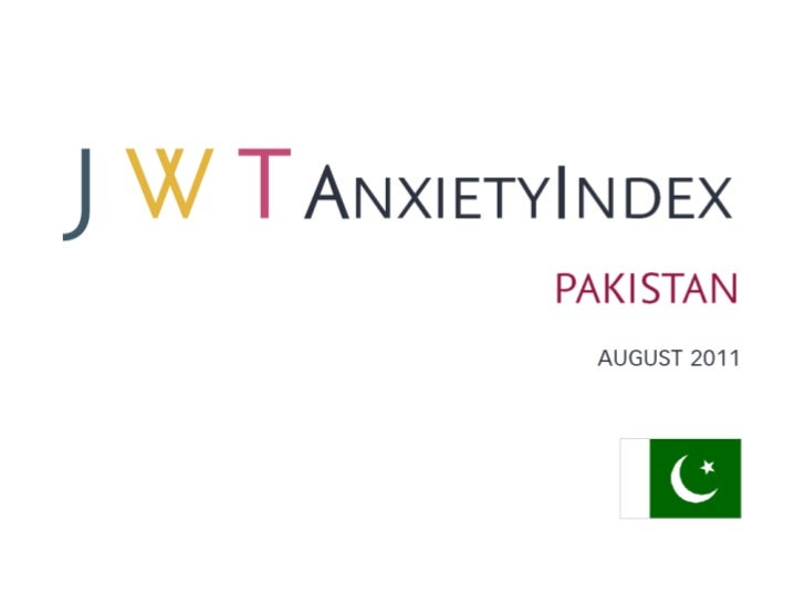 JWT AnxietyIndex: Pakistan (August 2011)