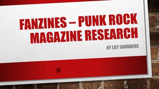 Fanzines – punk rock magazine research