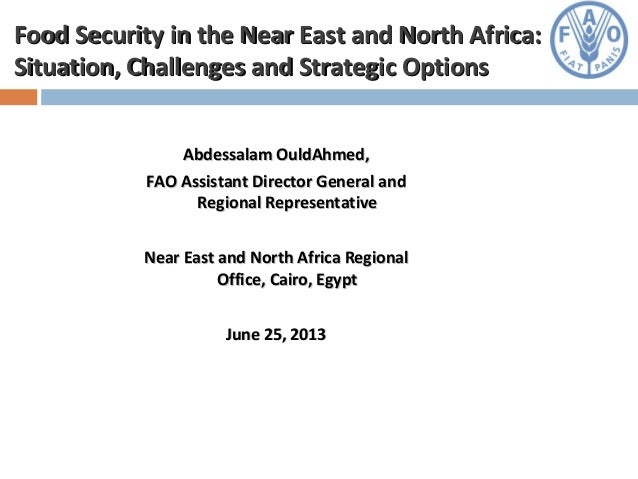 Food Security in Near East and North Africa