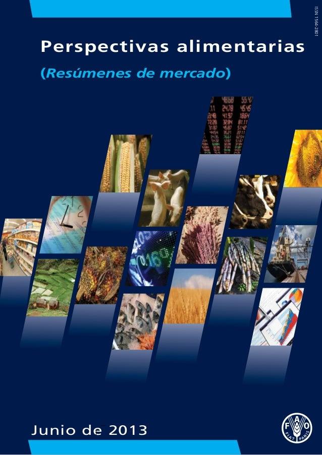 FAO - perspectivas alimentarias 2013