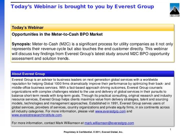 Opportunities in the Meter-to-Cash BPO Market