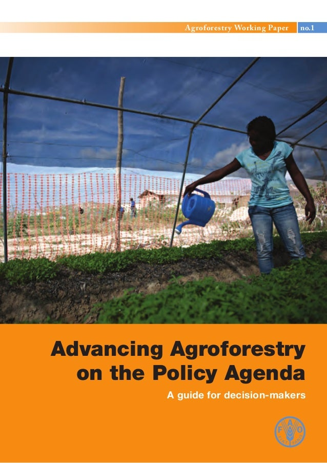 © FAO 2013 Agroforestry Working Paper no.1 Advancing Agroforestry on the Policy Agenda A guide for decision-makers Agrofor...