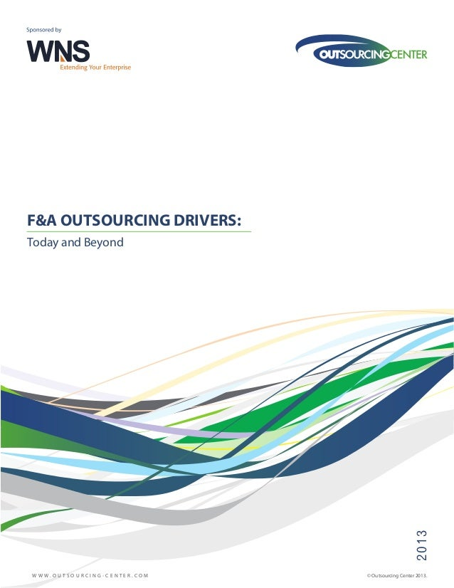 The WNS-Outsourcing Center Survey - FAO Outsourcing Drivers