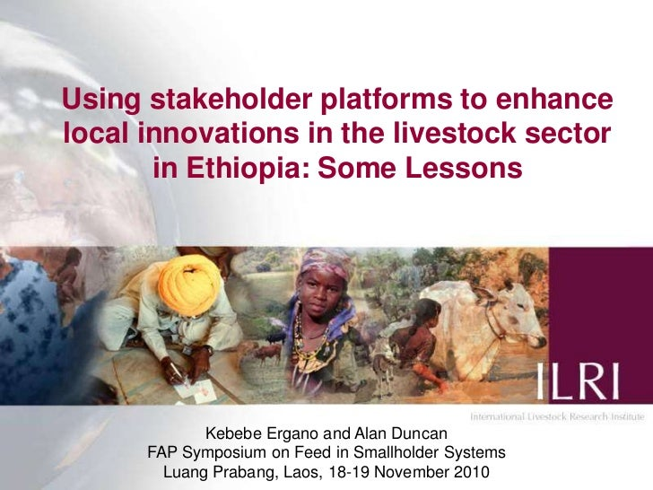 Using stakeholder platforms to enhance local innovations in the livestock sector in Ethiopia: Some Lessons<br />Kebebe Erg...