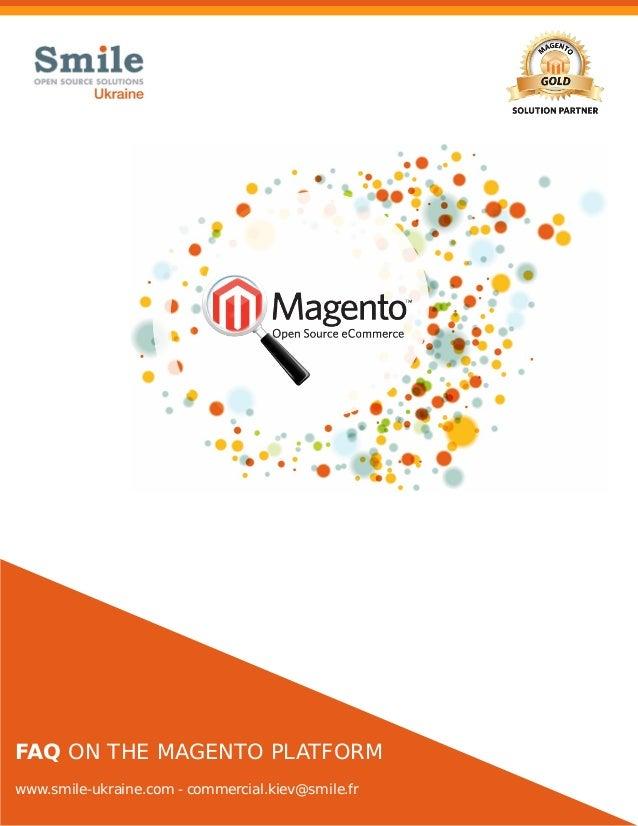 Faq on the Magento platform