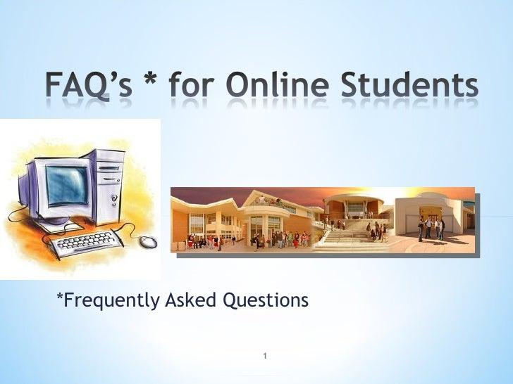 Faq onlinestudents fall'10