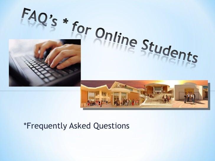 Faq onlinestudents fa10
