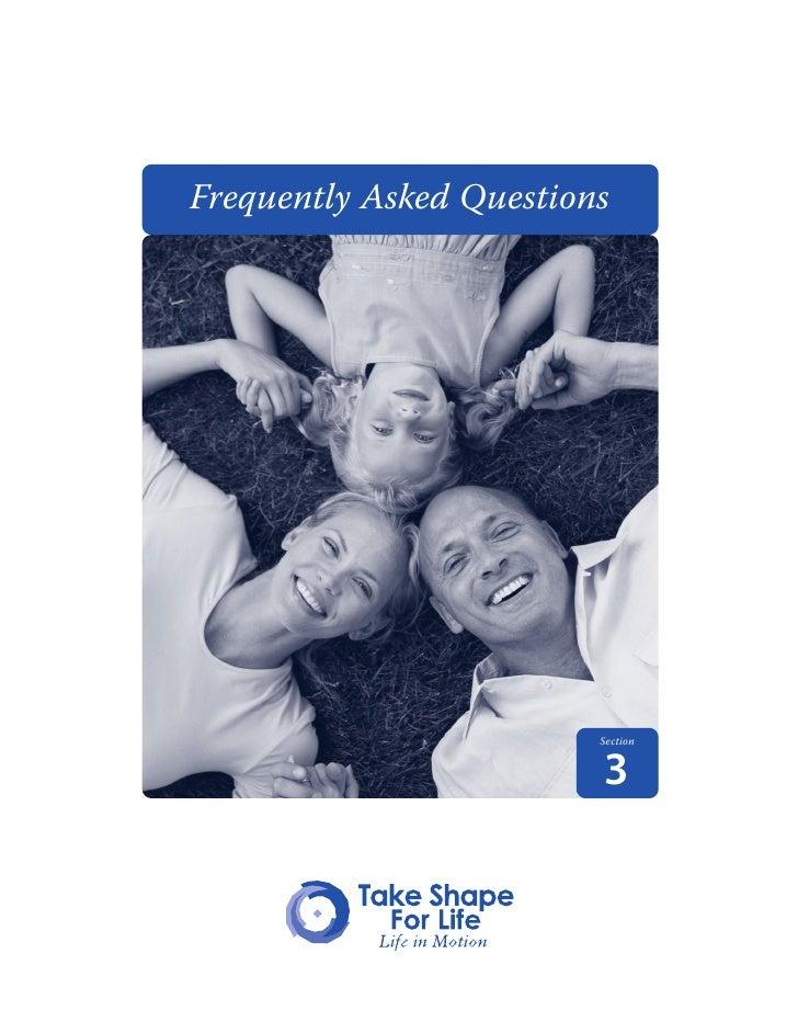 Take Shape For Life FAQs