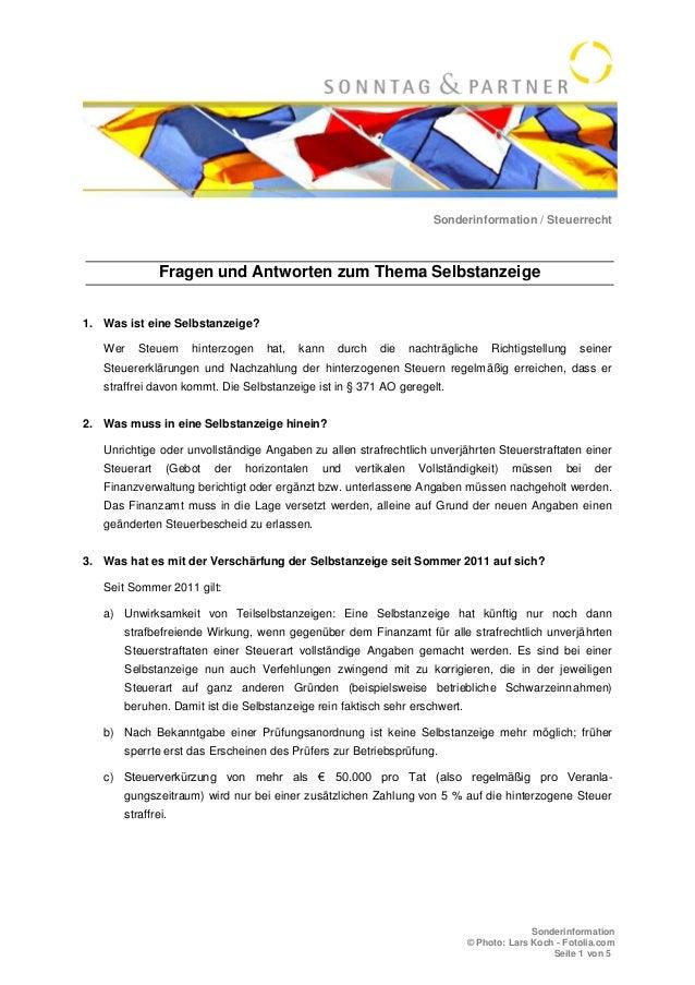 Sonderinformation / Steuerrecht Sonderinformation © Photo: Lars Koch - Fotolia.com Seite 1 von 5 Fragen und Antworten zum ...