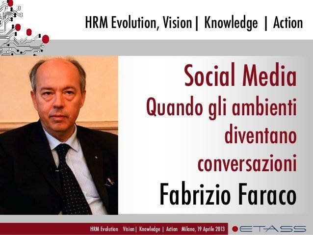 Knowledge Sharing 2.0 -Quando gli ambienti diventano conversazioni Fabrizio Faraco, ETAss Workshop