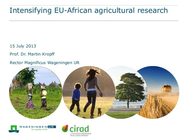 Intensifying EU-African agricultural research