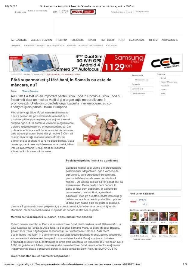 10/22/12                               Fără supermarket şi fără bani, în Somalia nu este de mâncare, nu? > EVZ.ro         ...