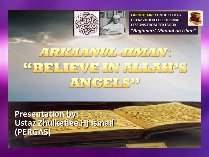 FARDHU'AIN: CONDUCTED BY                              USTAZ ZHULKEFLEE HJ ISMAIL                              LESSONS FROM...