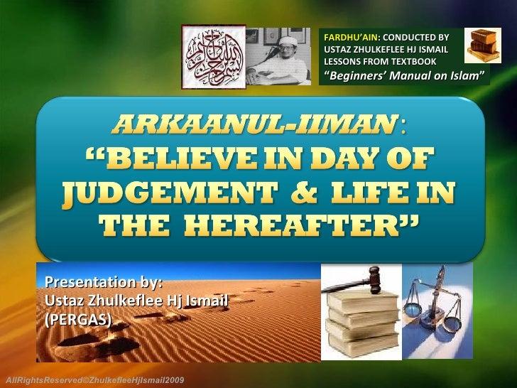 Presentation by:  Ustaz Zhulkeflee Hj Ismail  (PERGAS) FARDHU'AIN : CONDUCTED BY USTAZ ZHULKEFLEE HJ ISMAIL LESSONS FROM T...