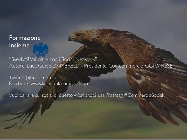 """Formazione  Insieme  ! """"Svegliati!Vai oltre con i Social Network""""  Autore: Luca Guido ZAMBRELLI - Presidente Confcommer..."""