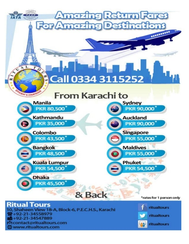 Ritual Tours Air Fares updated 18 01 2014