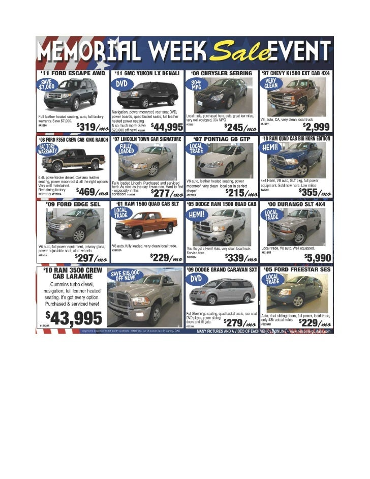 Memorial Day Sale at Fargo Area Car Dealer