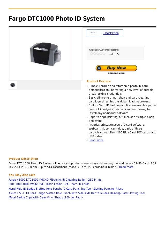 Fargo DTC1000 Photo ID System                                                                Price :                      ...