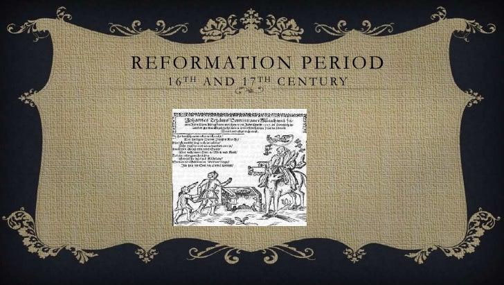 Reformation period in English Literature