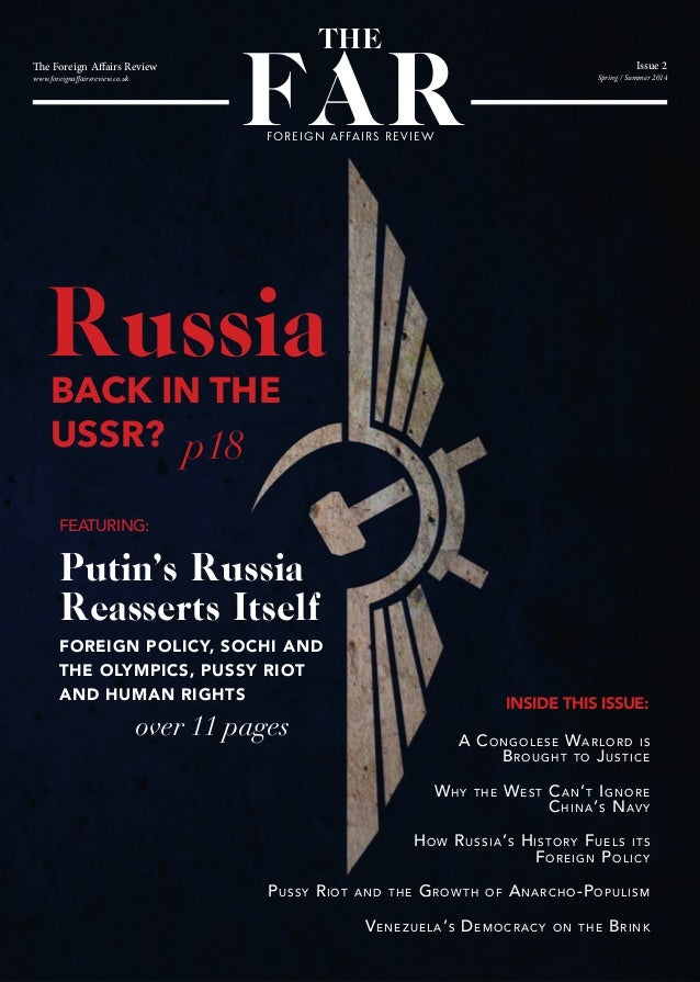 Foreign Affairs Review Spring Issue, 2014. Russia Special