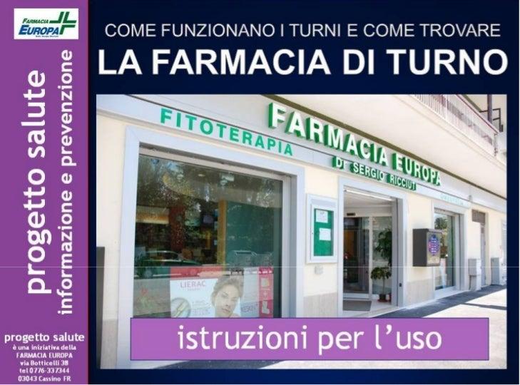 Farmacia di turno progetto salute - Farmacia di turno giardini naxos ...
