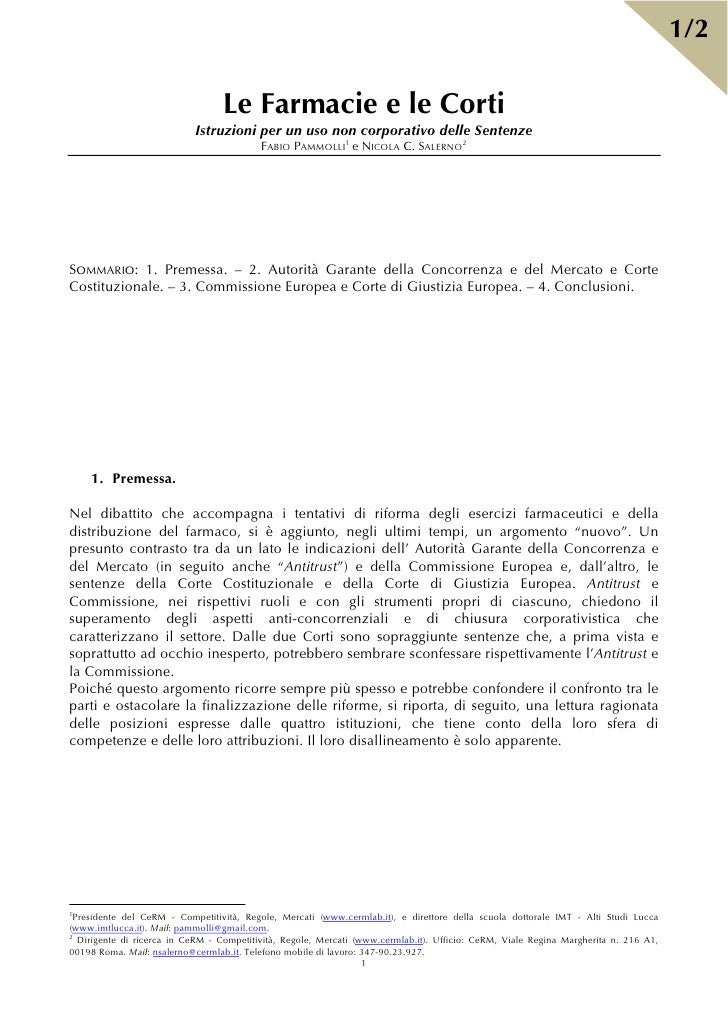 Farmacie e Corti - scheda n. 1
