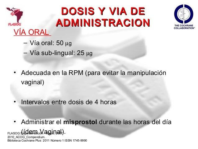 via administracion misoprostol