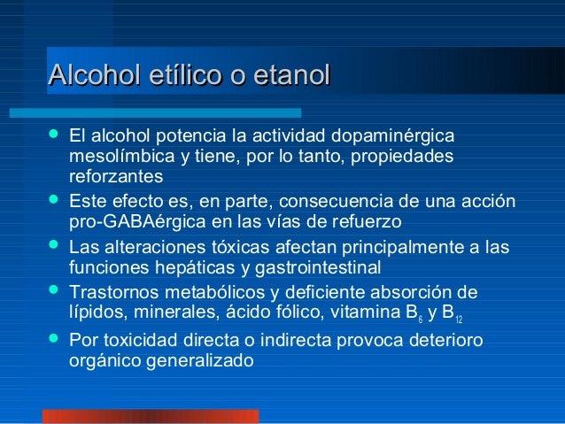 La codificación química del alcohol las revocaciones
