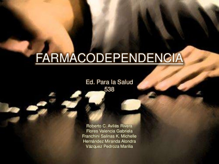 Farmacodependencias