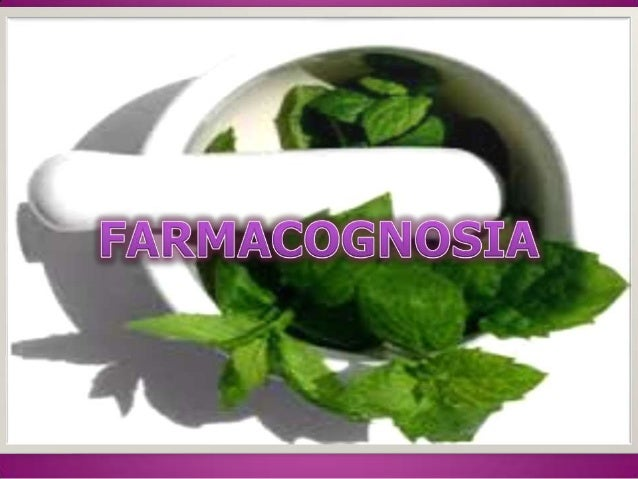 Farmacognosia powerpoint