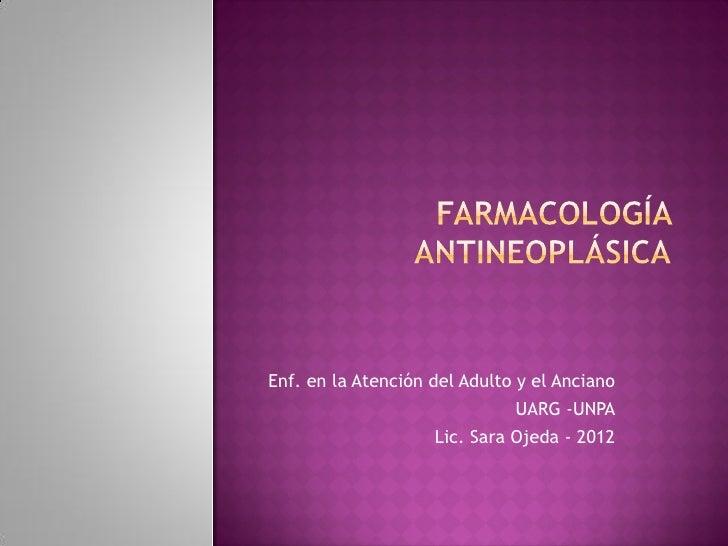 Farmacolog¡a antineoplísica