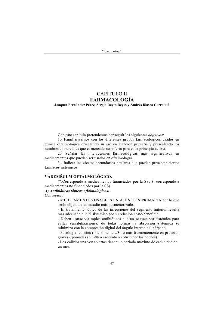 Farmacología                                  CAPÍTULO II                            FARMACOLOGÍA      Joaquín Fernández P...