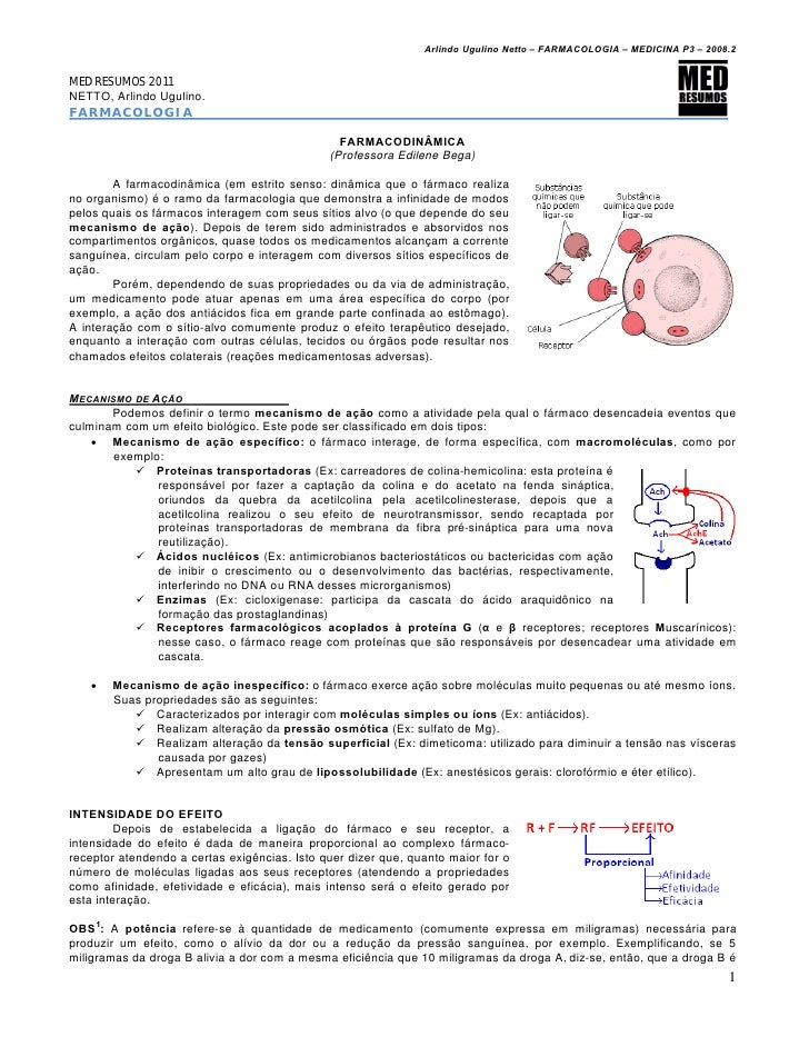 Farmacologia 04   farmacodinâmica