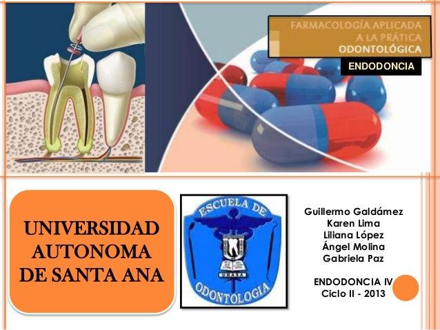 Farmacologia en endodoncia