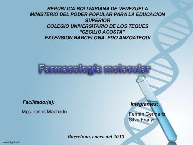 REPUBLICA BOLIVARIANA DE VENEZUELAMINISTERIO DEL PODER POPULAR PARA LA EDUCACIONSUPERIORCOLEGIO UNIVERSITARIO DE LOS TEQUE...