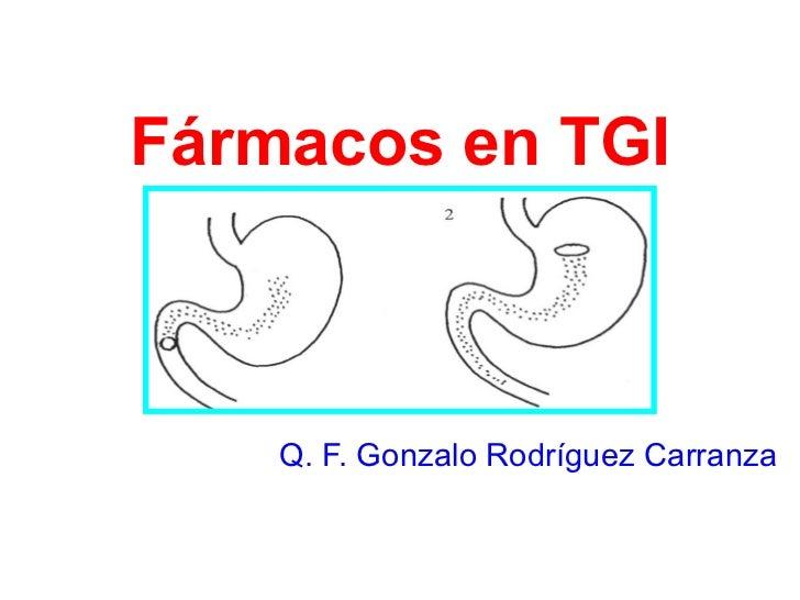 Farmacos en tgi 1