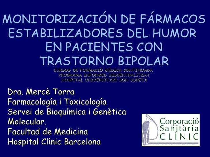 Fármacos estabilizadores del estado de humor en pacientes bipolares