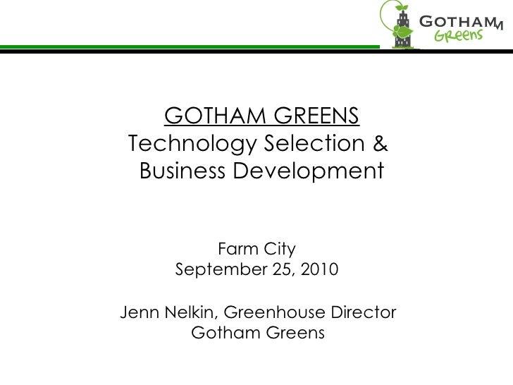 Farm City Forum - Pecha Kucha - Gotham Greens - Jennifer Nelkin