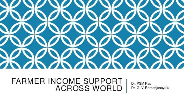 Farmer income support across world