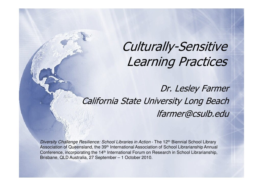 Culturally-Sensitive                                            Learning Practices                                        ...