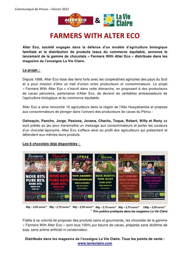 Communiqué de Presse – Février 2012                                                             &                         ...
